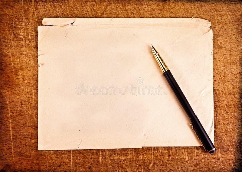 Escrituras de la vendimia. fotos de archivo libres de regalías
