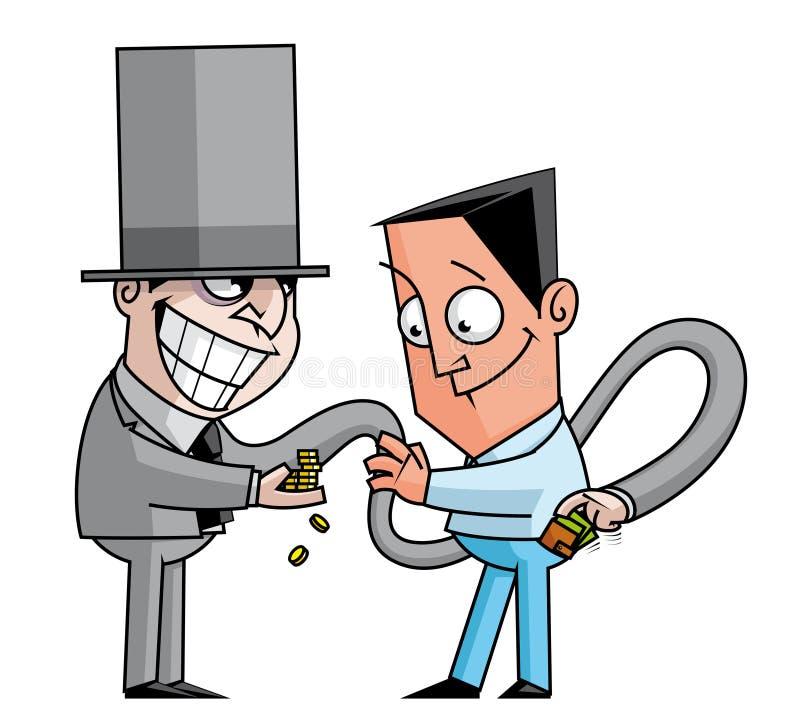 Escroc de banquier illustration stock
