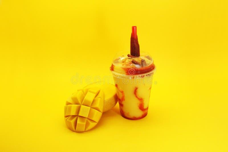 Escroquerie Chamoy de mango de Smoothie photos libres de droits
