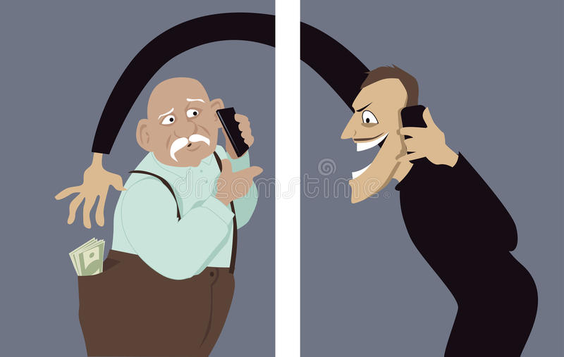 Escroquerie de téléphone illustration stock