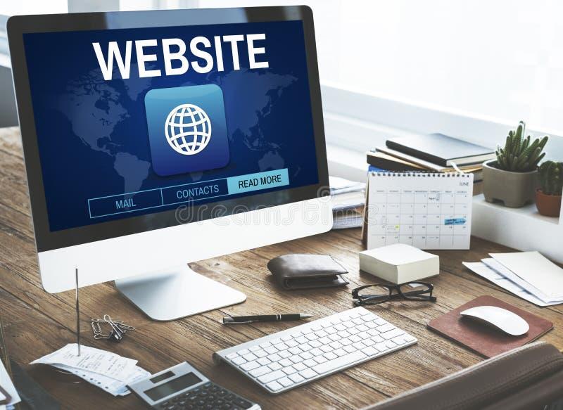 Escroquerie graphique de WWW de connexion de site Web d'Internet global de communication photographie stock