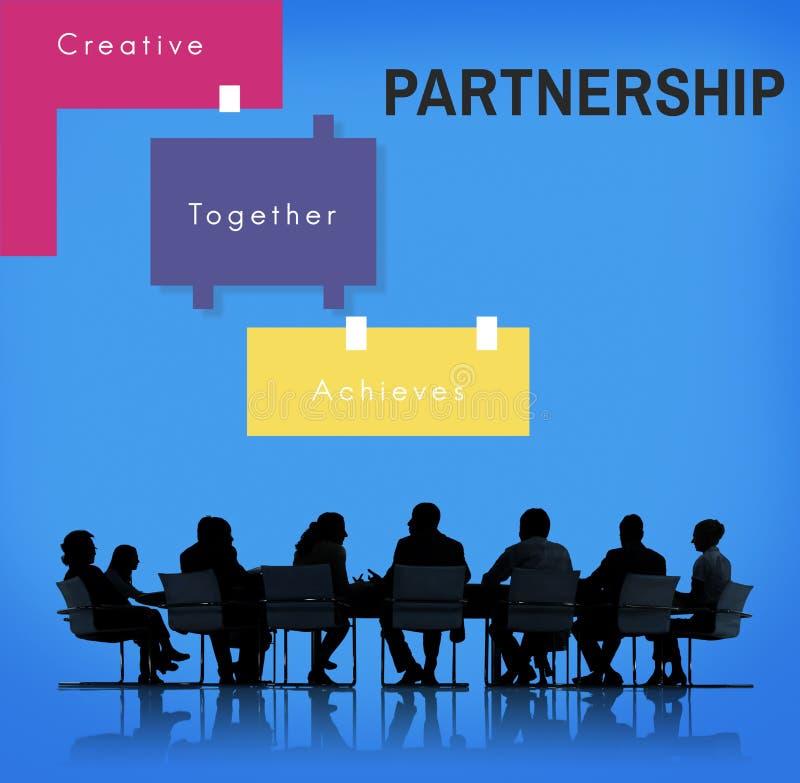 Escroquerie graphique ensemble de collaboration créative de travail d'équipe d'accomplissement images libres de droits
