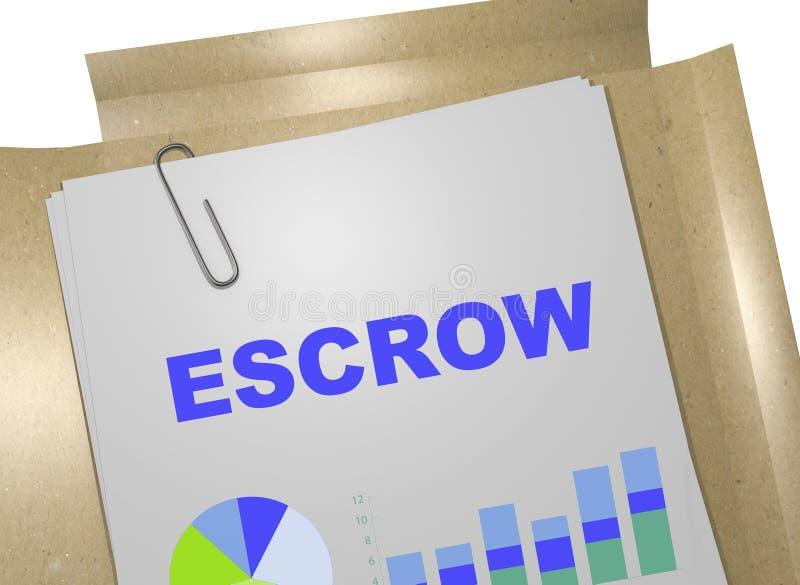 Escrow - biznesowy pojęcie royalty ilustracja