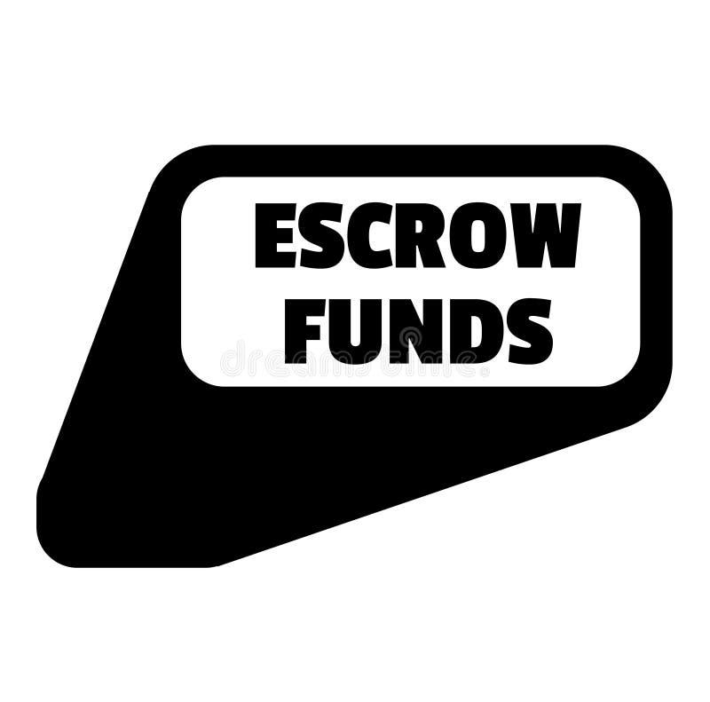 Escrow funduszy znaczek na bielu ilustracja wektor