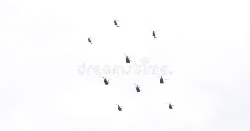 Escuadrilla centenaria del helicóptero de Royal Air Force imagen de archivo