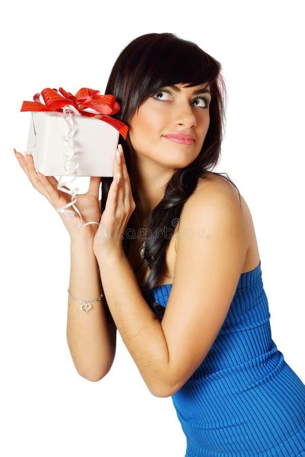Escucha el rectángulo de regalo imágenes de archivo libres de regalías