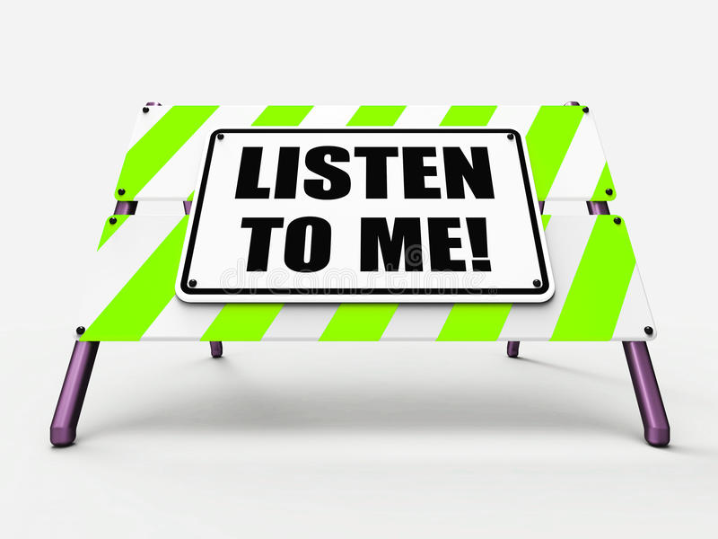 Escuchan MÍ los medios de la muestra que oyen escuchar y libre illustration
