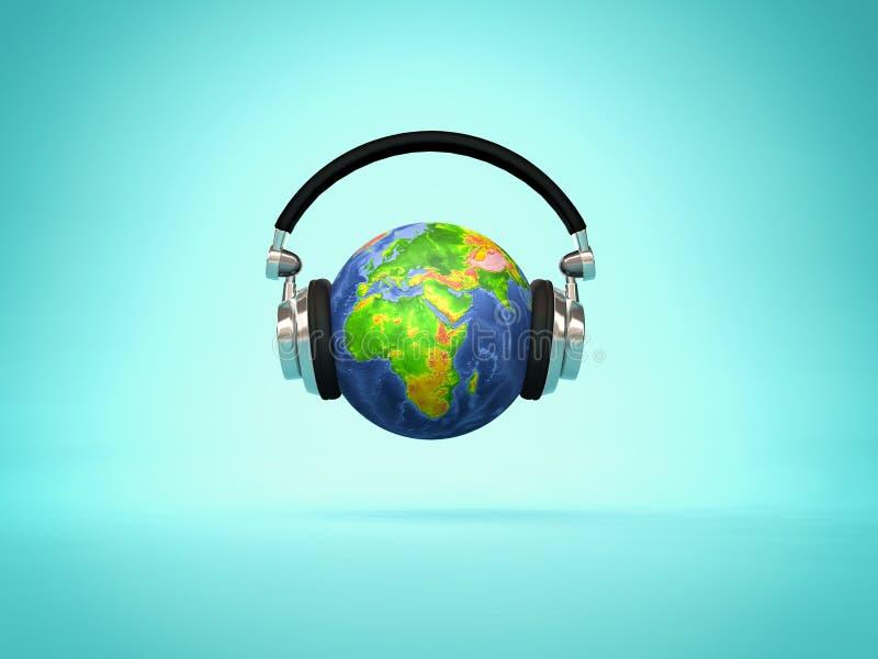 Escuchando el mundo ilustración del vector