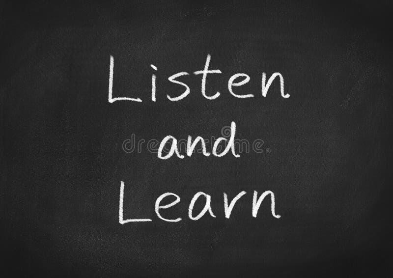 Escuche y aprenda stock de ilustración