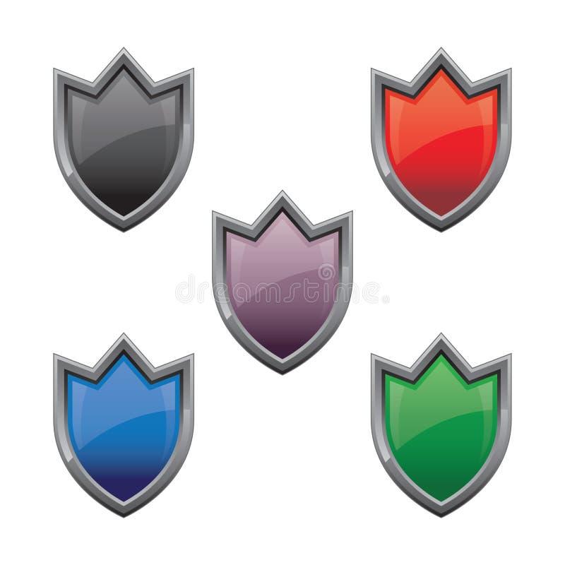 Escudo brillante stock de ilustración