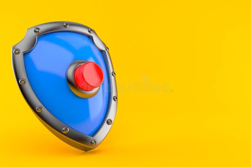 Escudo con el botón ilustración del vector
