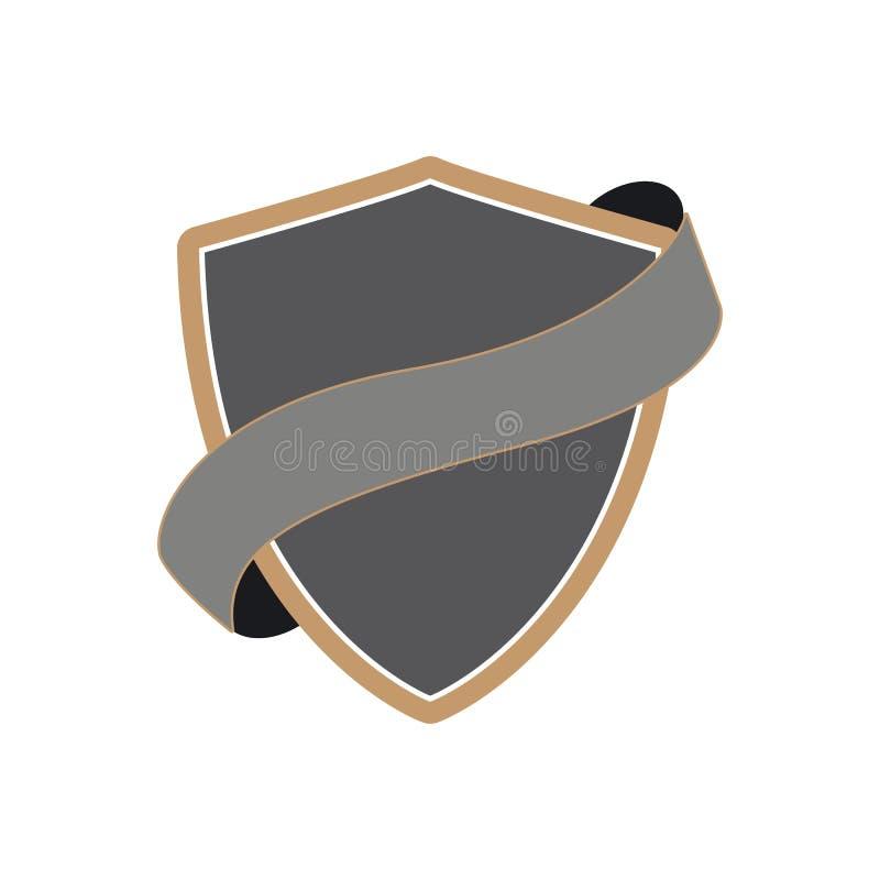 escudo con imagen de la cinta libre illustration