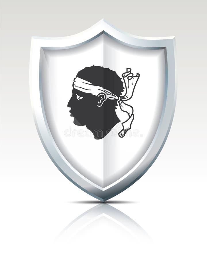Escudo con la bandera de Córcega libre illustration