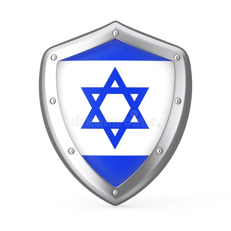 Escudo con la bandera de Israel representación 3d libre illustration