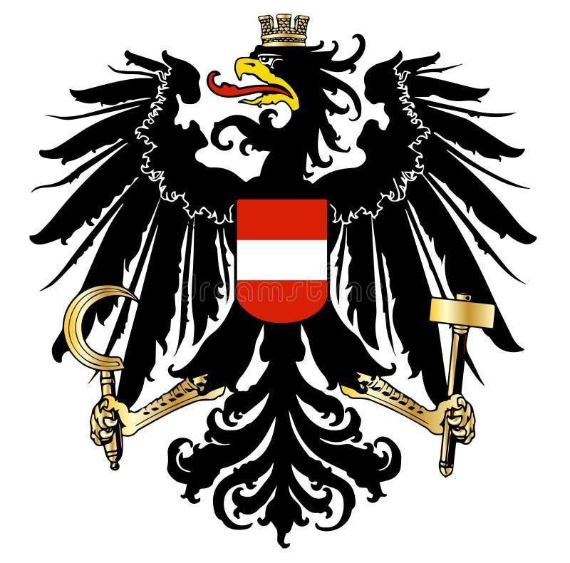 Escudo de armas austríaco ilustración del vector