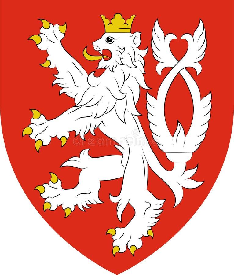 Escudo de armas de Bohemia en la República Checa libre illustration