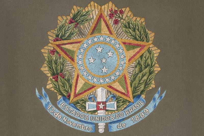Escudo de armas de Bresil ilustración del vector