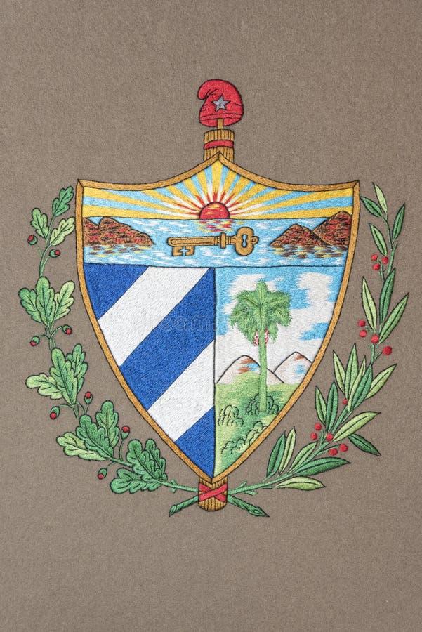 Escudo de armas de Cuba stock de ilustración