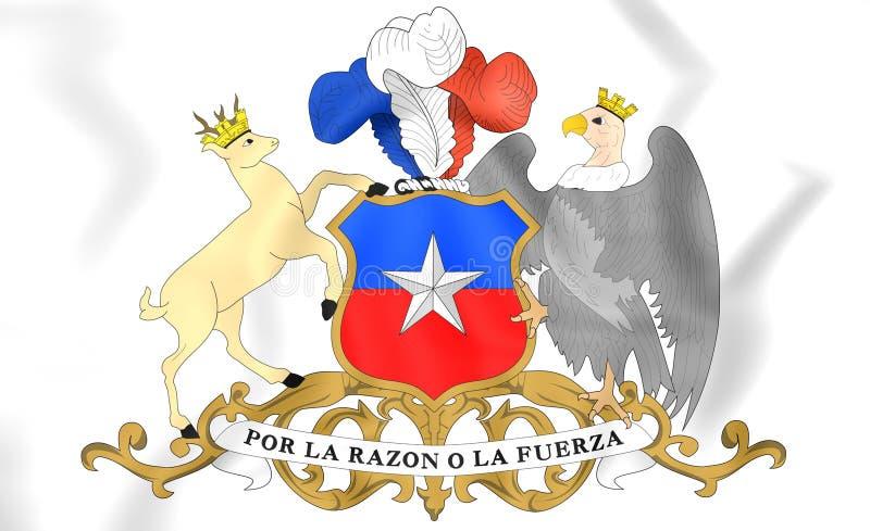 Escudo de armas de Chile ilustración del vector