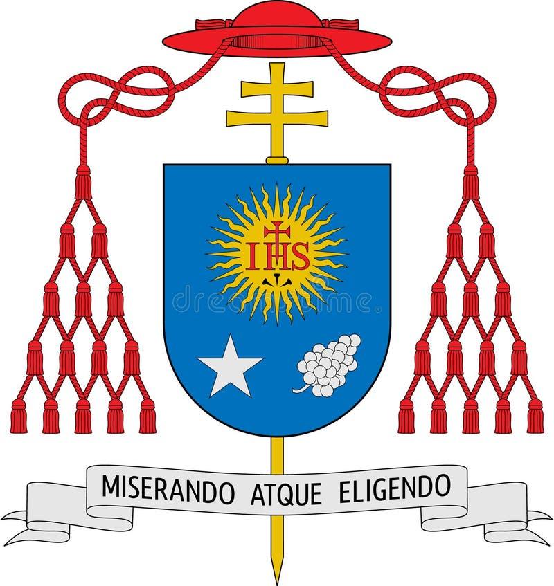 Escudo de armas de Jorge Mario Bergoglio (el papa Francisco I) ilustración del vector