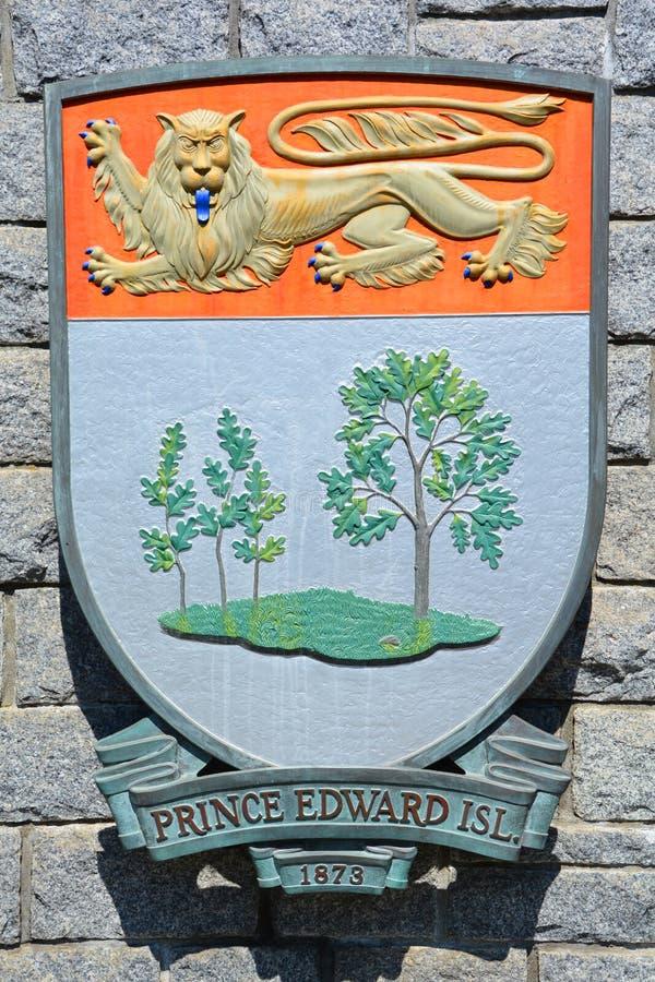 Escudo de armas de príncipe Edward Island fotos de archivo libres de regalías
