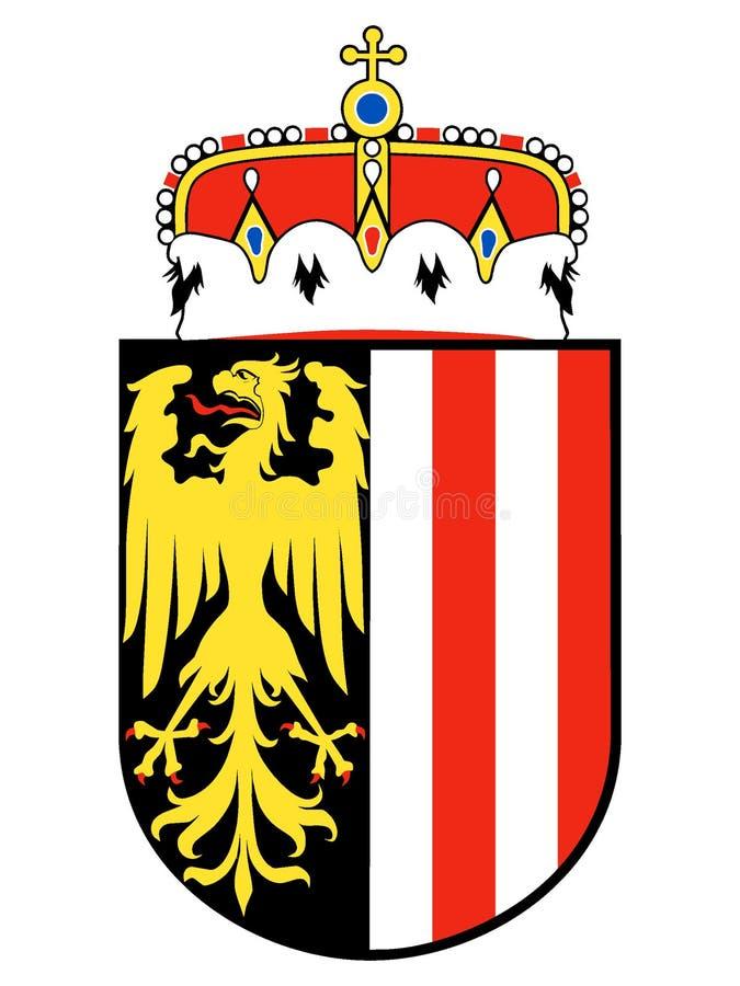 Escudo de armas del estado austríaco de Austria septentrional stock de ilustración