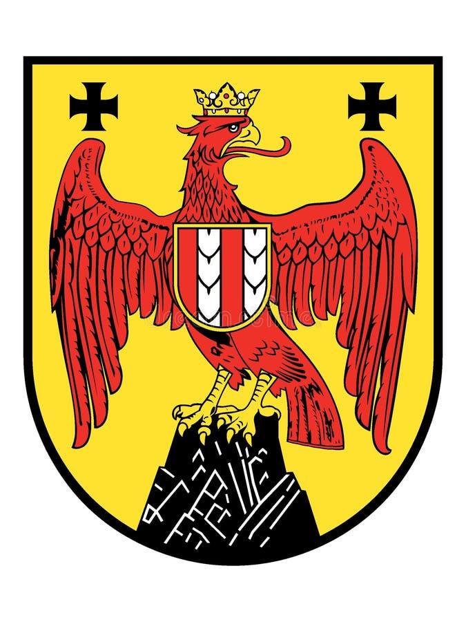 Escudo de armas del estado austríaco de Burgenland stock de ilustración
