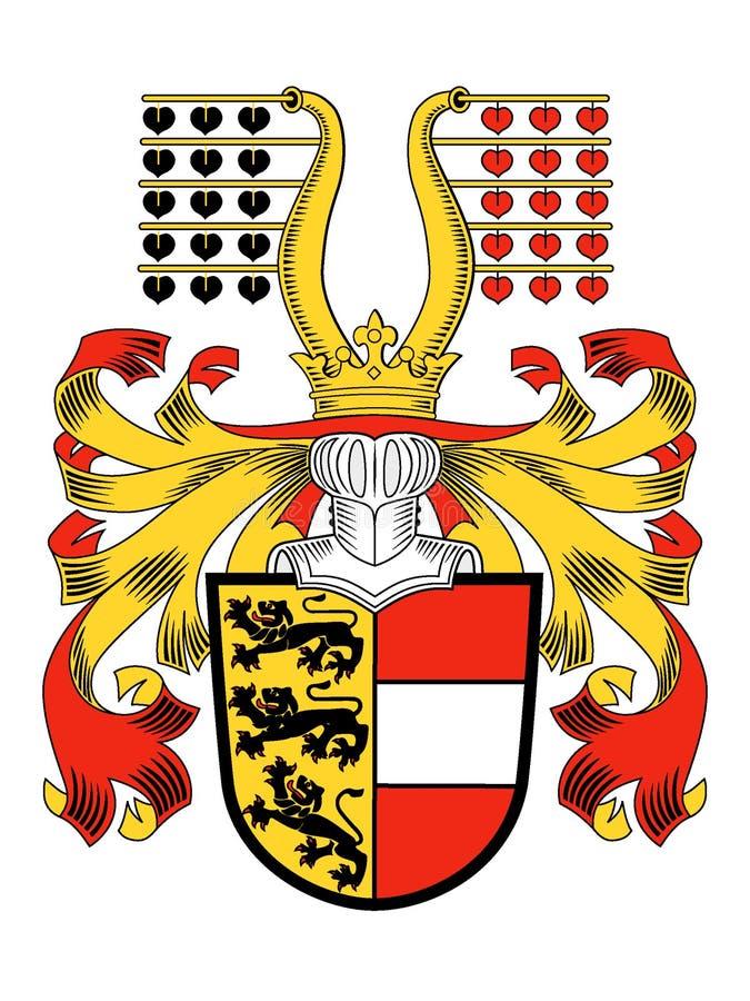 Escudo de armas del estado austríaco de Carinthia stock de ilustración