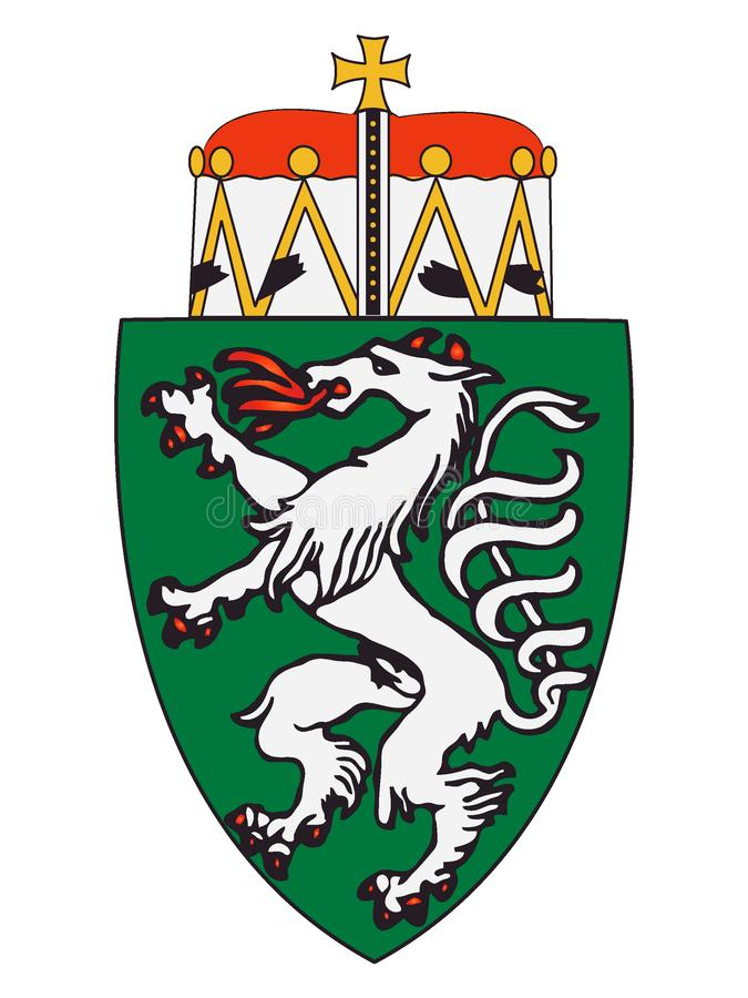 Escudo de armas del estado austríaco de Estiria ilustración del vector