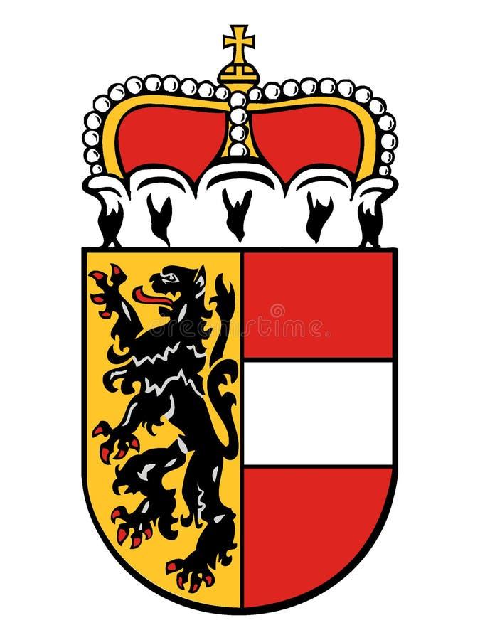 Escudo de armas del estado austríaco de Salzburg libre illustration