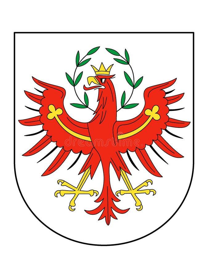 Escudo de armas del estado austríaco del Tyrol stock de ilustración