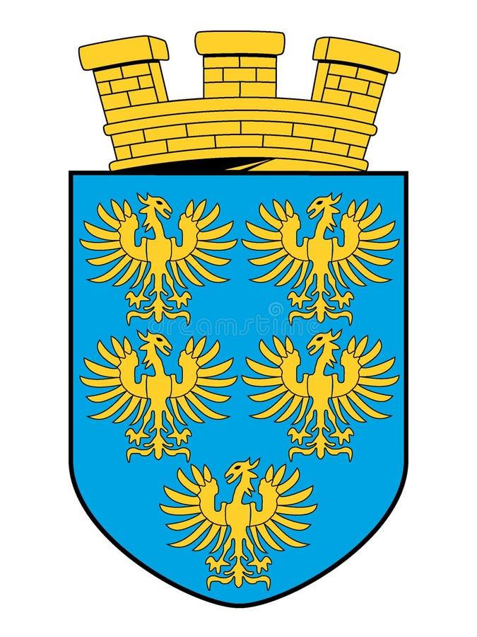 Escudo de armas del estado austríaco de una Austria más baja ilustración del vector