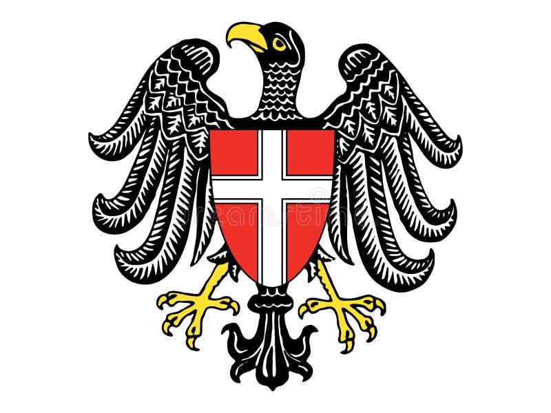 Escudo de armas del estado austríaco de Viena libre illustration