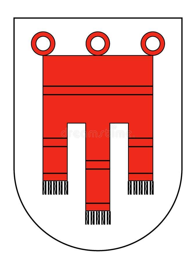 Escudo de armas del estado austríaco de Vorarlberg ilustración del vector