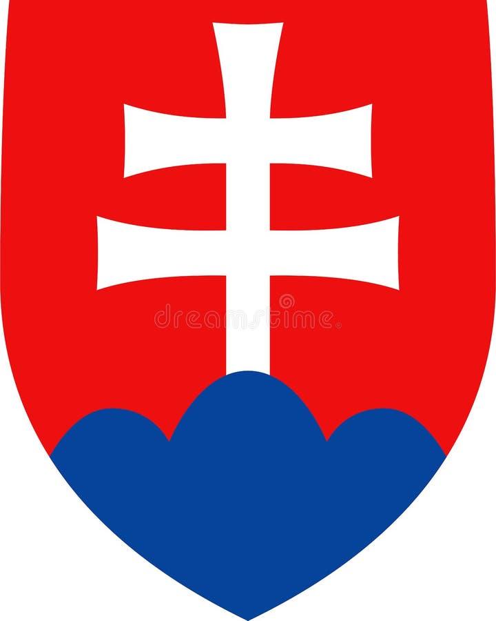 Escudo de armas de Eslovaquia stock de ilustración