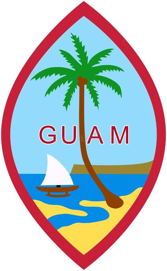 Escudo de armas de Guam - los E.E.U.U. imagen de archivo