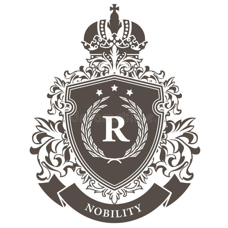 Escudo de armas imperial - emblema real heráldico ilustración del vector
