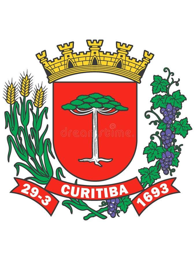 Escudo de armas de la ciudad de Curitiba ilustración del vector