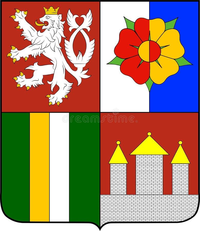 Escudo de armas de la región de Bohemia meridional en la República Checa libre illustration