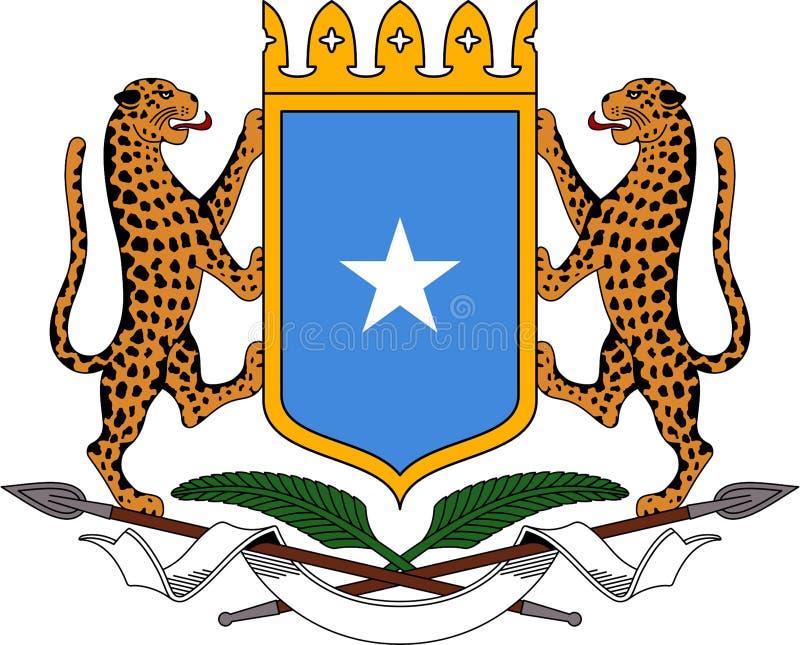 Escudo de armas de la República de Somalia fotografía de archivo libre de regalías
