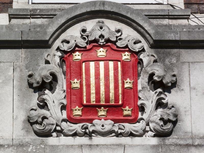 Escudo de armas de la Universidad de Cambridge de la universidad de Peterhouse foto de archivo libre de regalías
