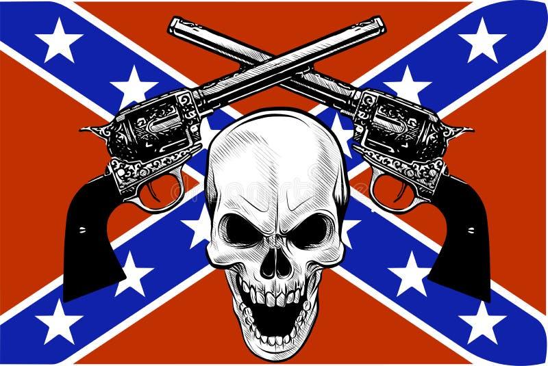 Escudo de armas militar con el cráneo, grunge Camisetas del diseño libre illustration