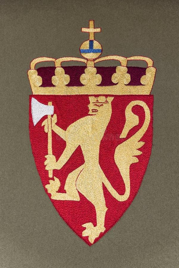 Escudo de armas de Noruega ilustración del vector