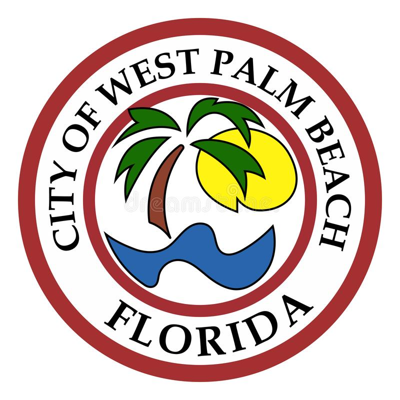 Escudo de armas de West Palm Beach en la Florida, los E.E.U.U. libre illustration