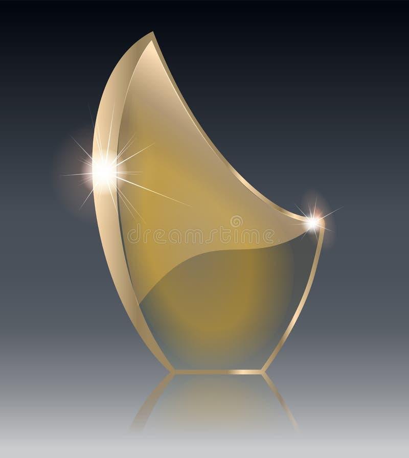 Escudo de cristal transparente, ejemplo del vector Diseño realista 3D Objeto transparente del vector libre illustration
