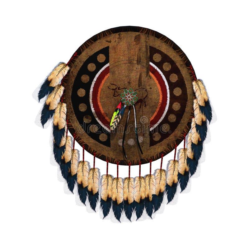 Escudo del nativo americano fotografía de archivo libre de regalías