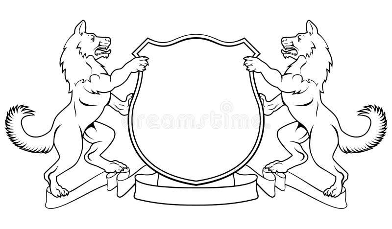 Escudo heráldico del escudo de armas de la cresta de los perros libre illustration