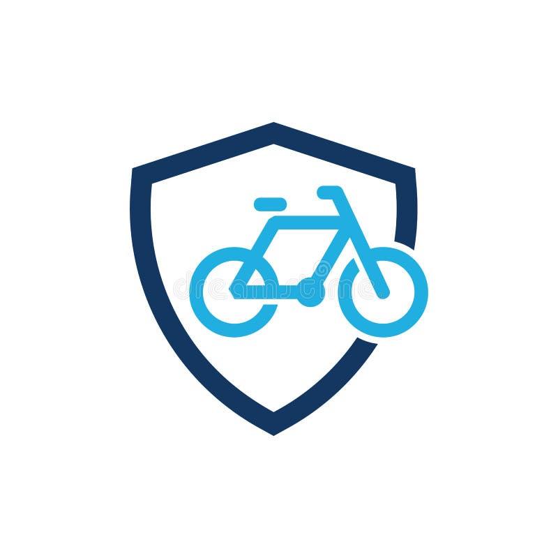Escudo Logo Icon Design de la bici stock de ilustración