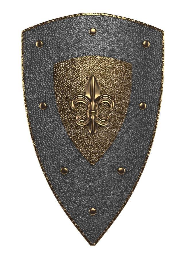 Escudo medieval stock de ilustración
