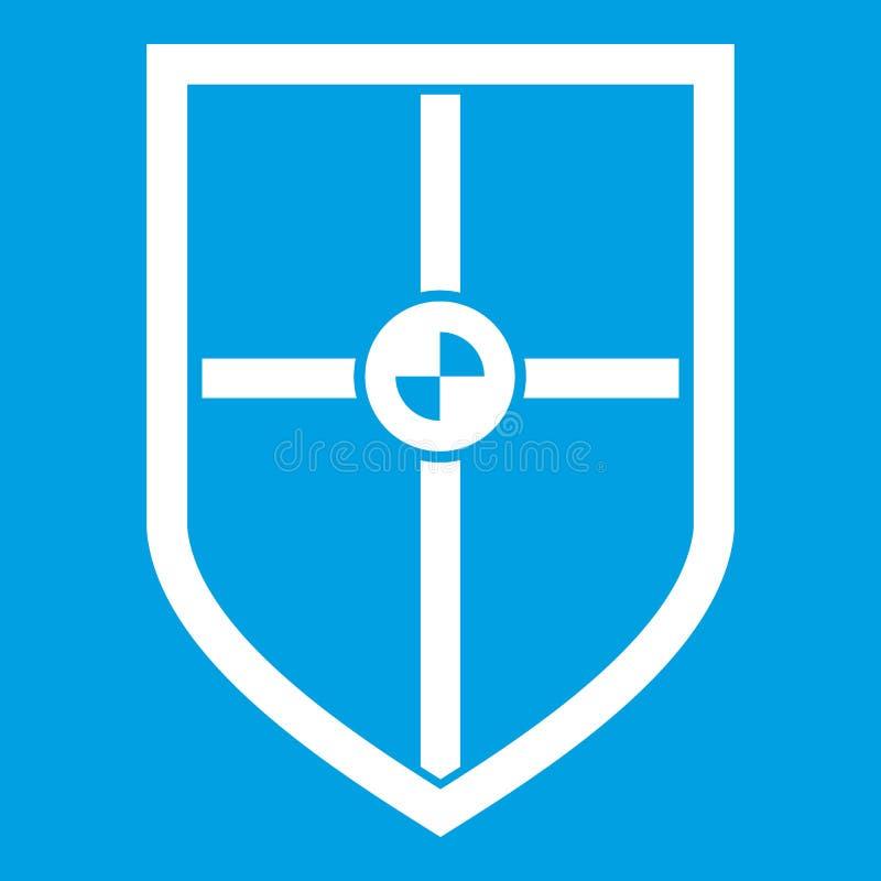 Escudo para el blanco del icono de la lucha libre illustration